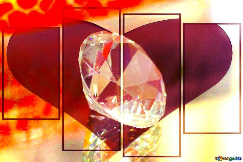 diamond Love heart №52795