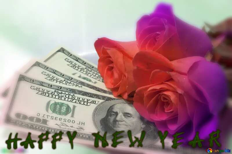 Roses  and  dollars.happy new year №7269