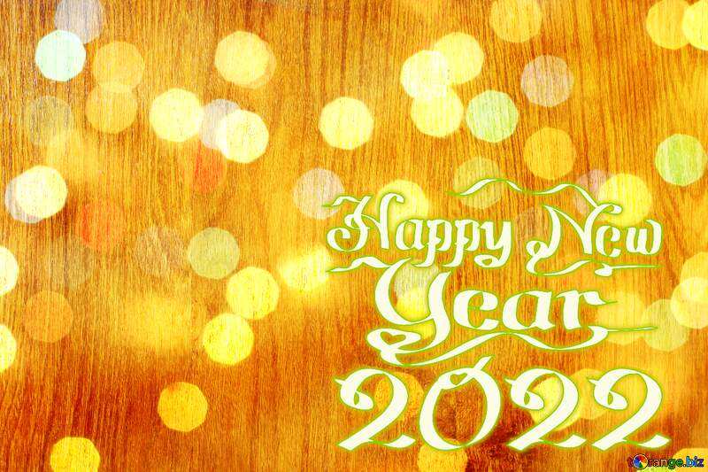 Wood texture bokeh background happy new year 2021 №42298
