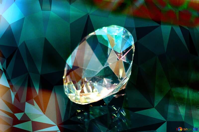 diamond picture polygon background wave №52795
