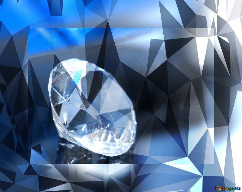 diamond polygonal techno color background №52795
