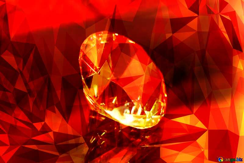 diamond Polygonal orange picture №52795