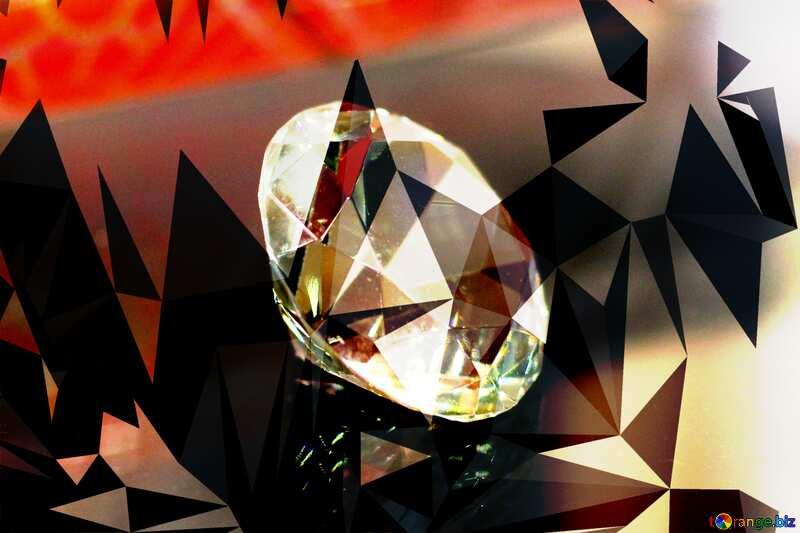 diamond Polygonal triangles techno background №52795