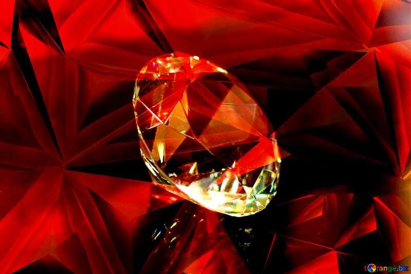 diamond Polygonal red metal №52795