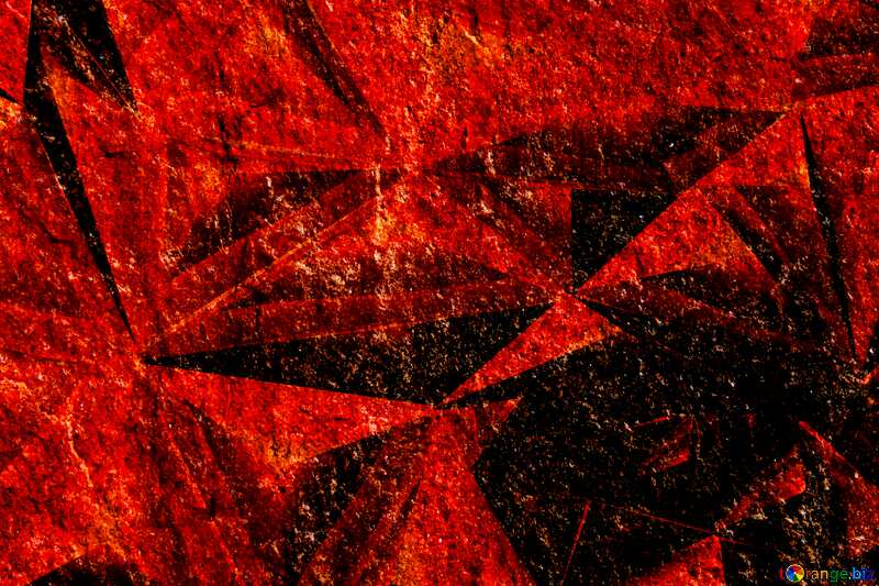 Granite. Rough texture stone Polygonal red metal №1301