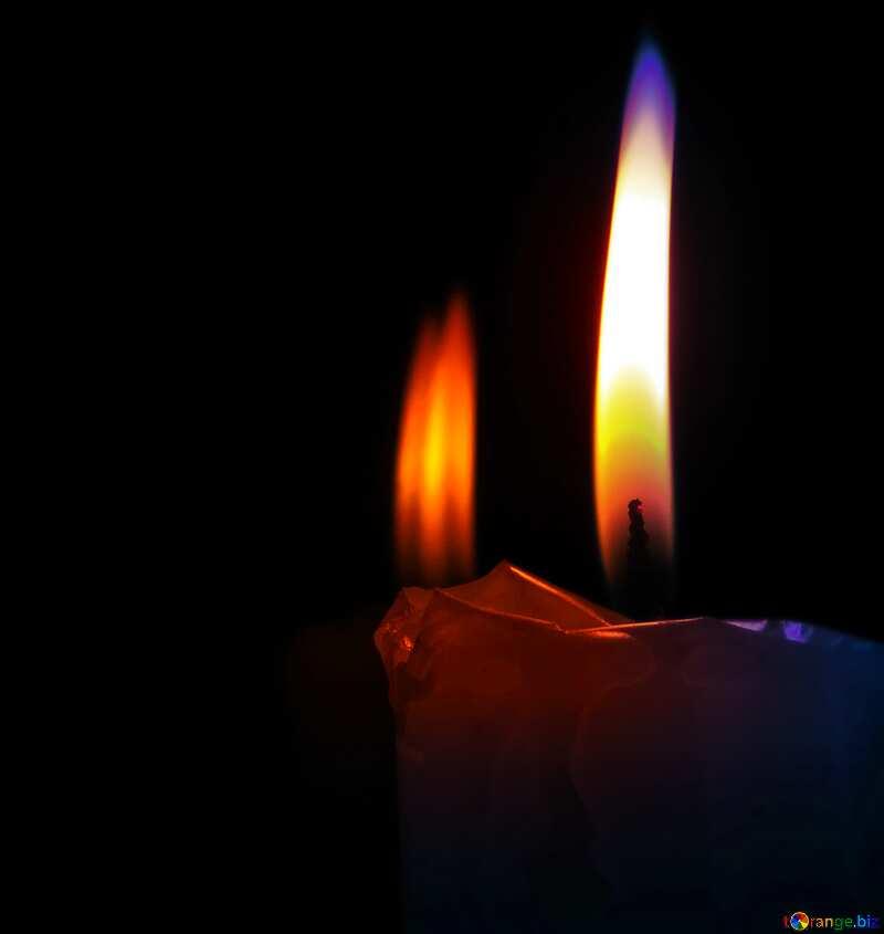 blur frame burning candle glare №17408