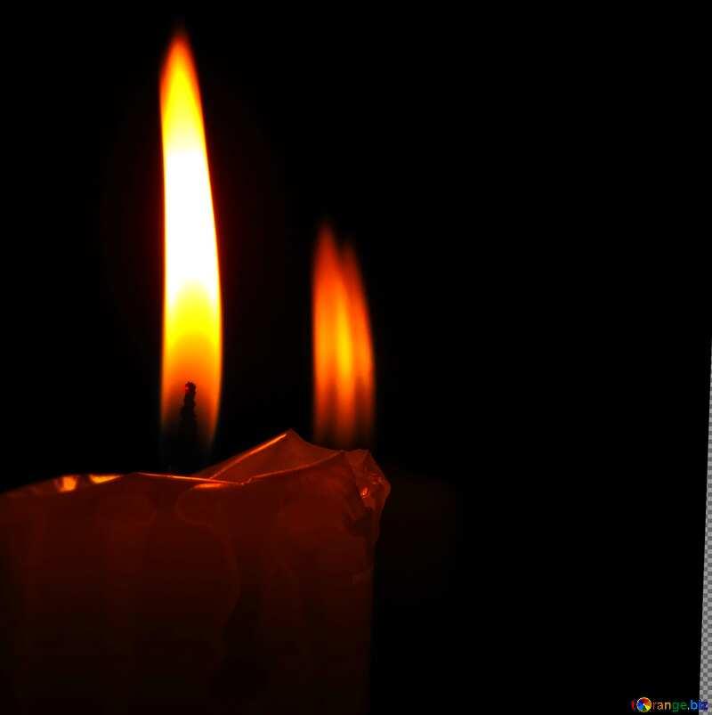 burning candle blur frame №17408