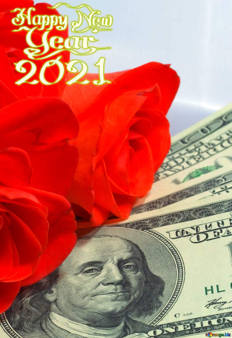 Roses  and  dollars. happy new year 2021 №7269