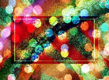 El efecto de la muy luz. El efecto de teñido de color rojo.