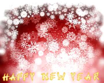 The effect of light. Blur frame. Card with text Happy New Year.