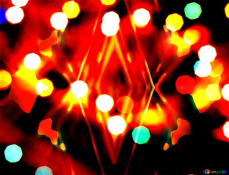 Christmas background fractal dark №24619