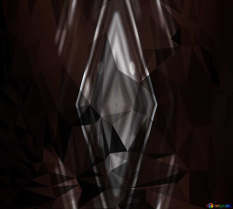 Dark Polygon Pattern Background №51583