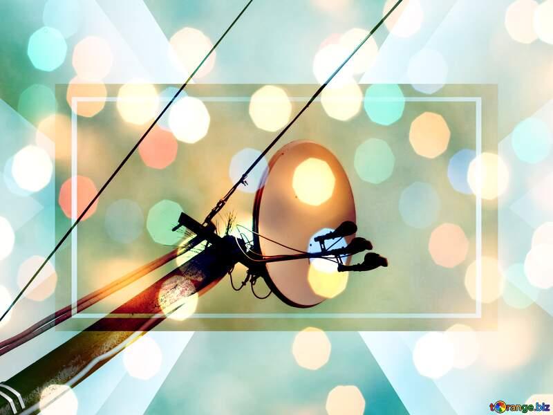 satellite dish electric responsive background №31194