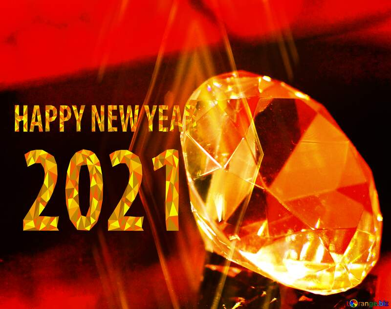 happy new year 2020 diamond Christmas bokeh background №52795