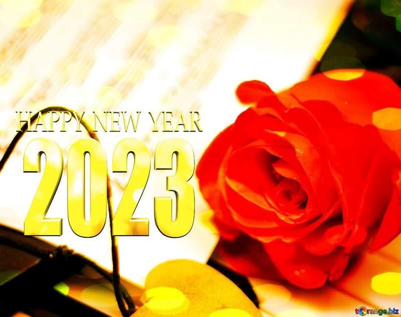 love  happy new year 2022 Christmas bokeh background №7200