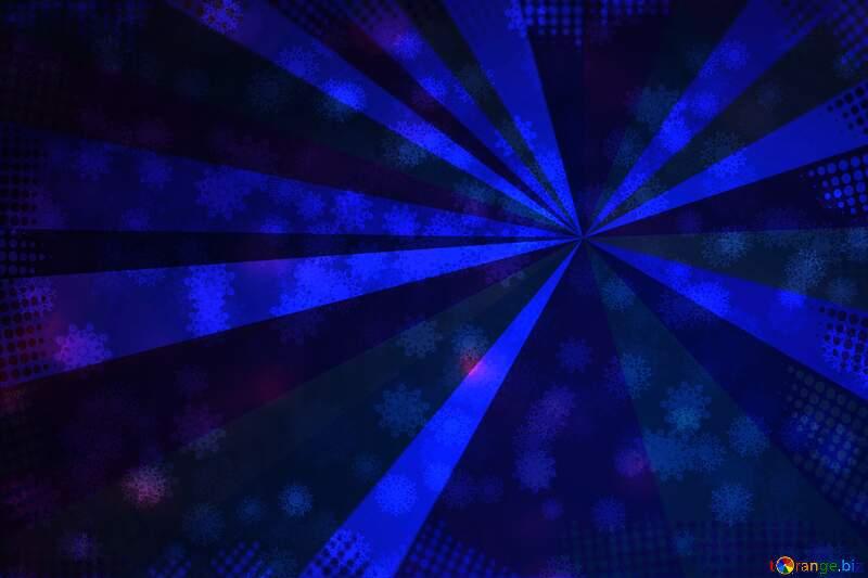 Blue Snowflake rays background №40700