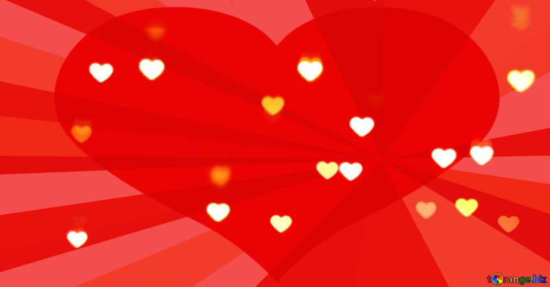 red heart background with hearts №37850