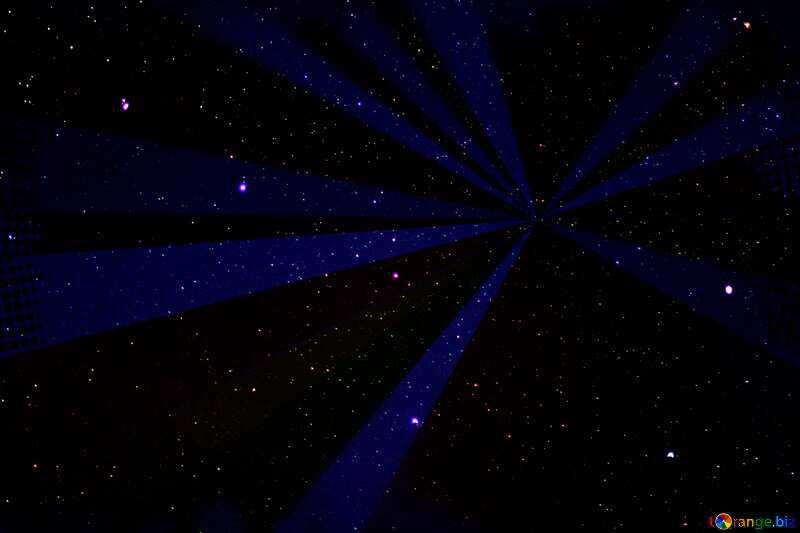 Starry sky rays №44729
