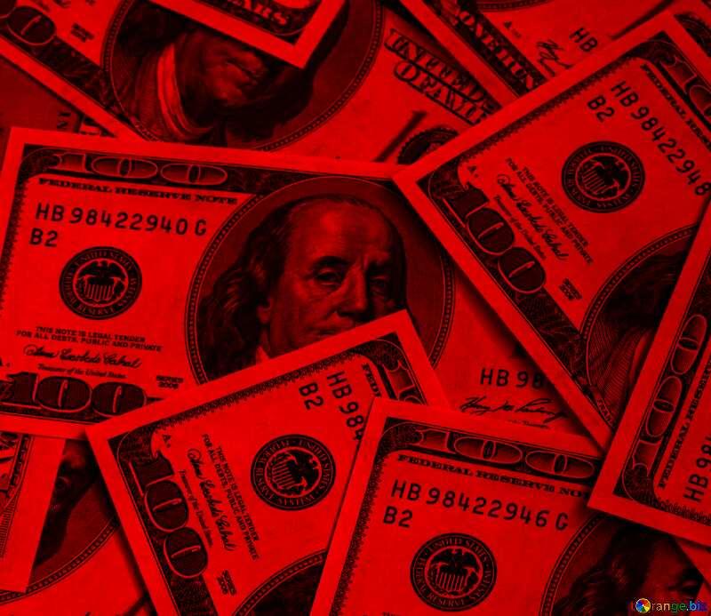 Dollars dark red background №1507