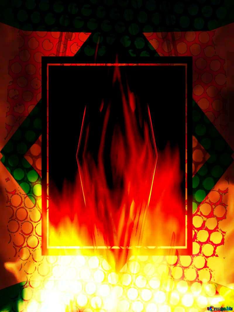 Background. Fire  Wall. deco art tech №9546
