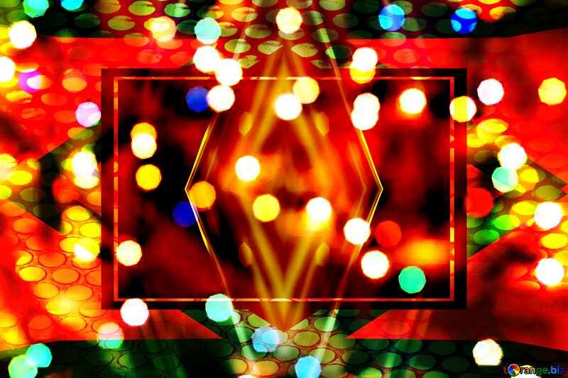 Christmas geometric deco art background №24619