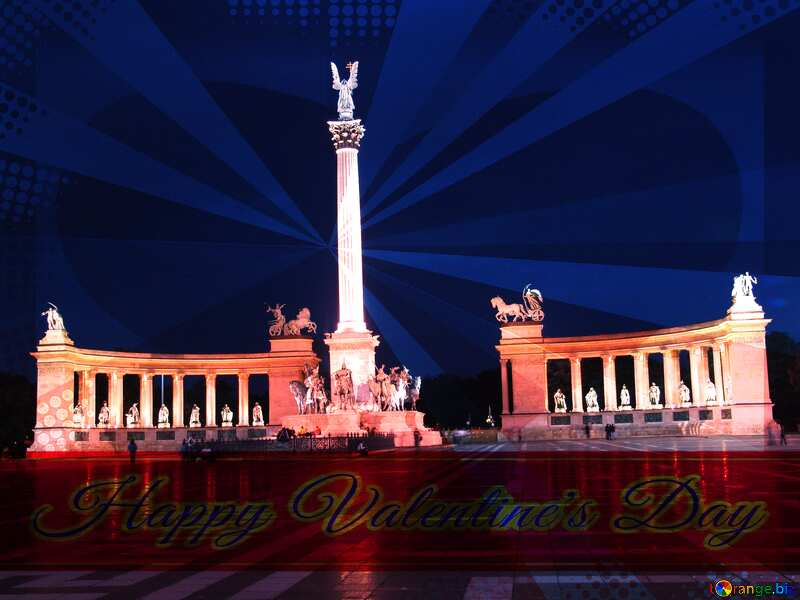 Hungary Budapest Heroes Square retro style №31871