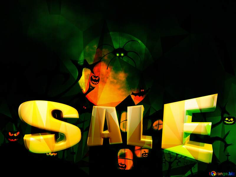 Halloween Sales promotion discount background №40470