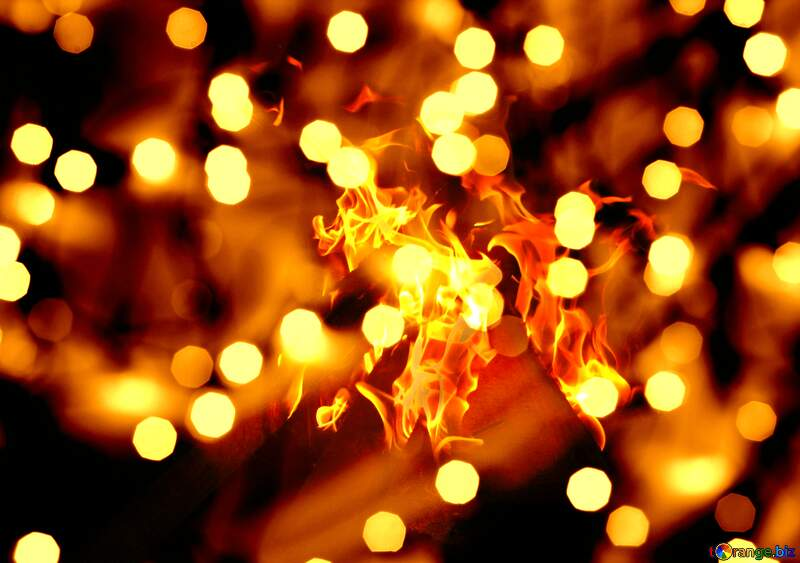 Christmas Fire background №24619