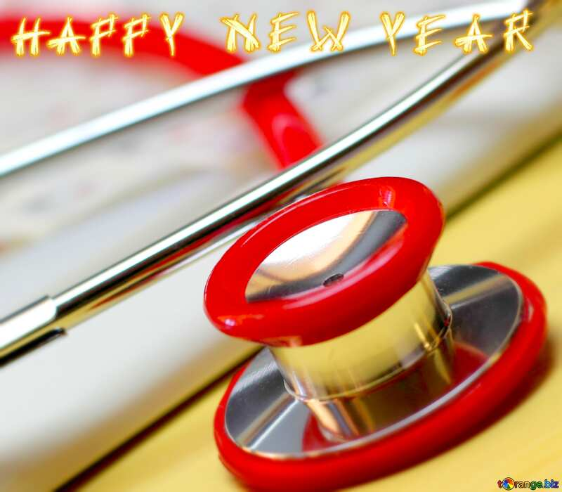 happy new year card  for doctor №19742