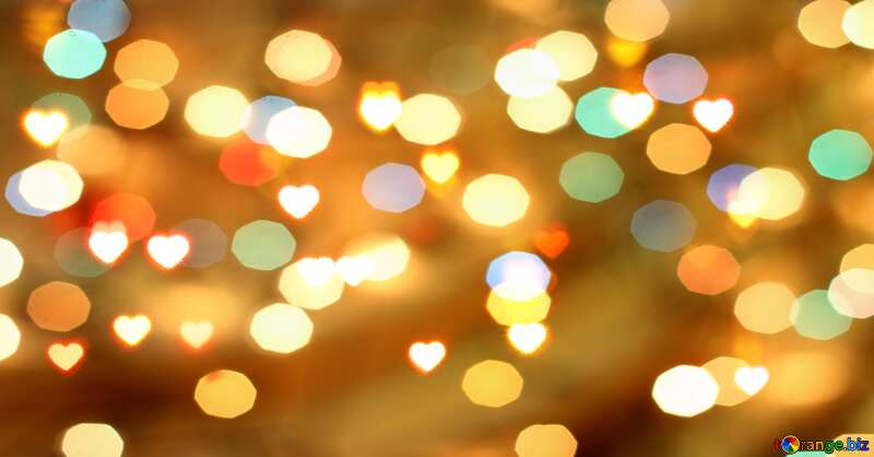 A bokeh background with big hearts №37850