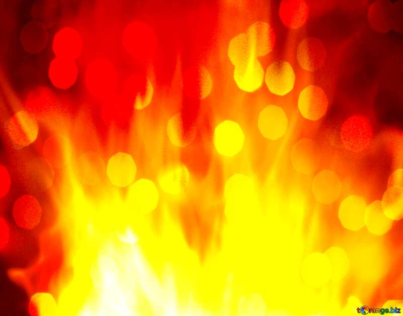 Background. Fire  Wall bokeh  lights №9546