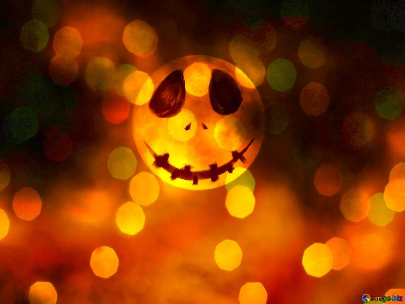 Halloween bokeh  background with the Moon №40471