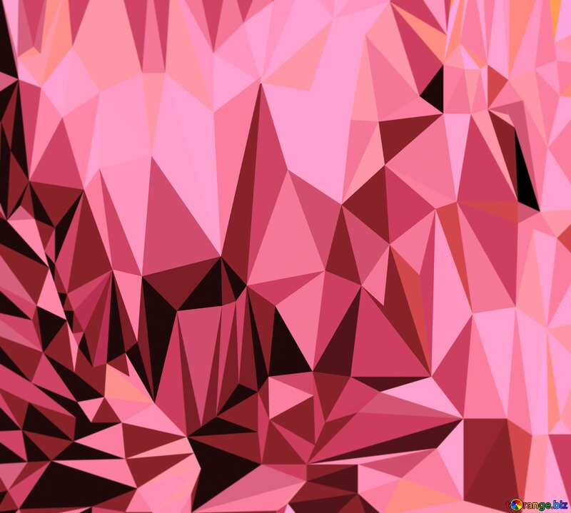 Polygon pink  background №51583
