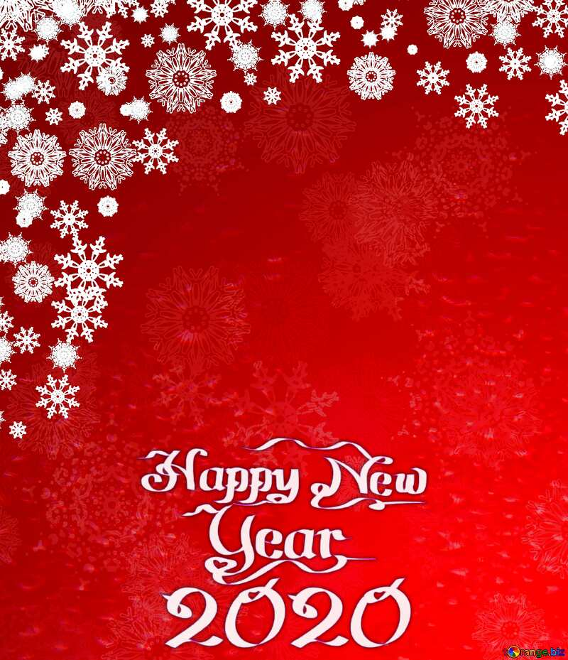Red Christmas background snowflakes happy new year 2020 №40659