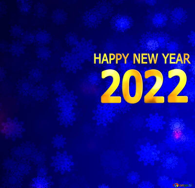 Blue Snowflake background happy new year 2022 №40700