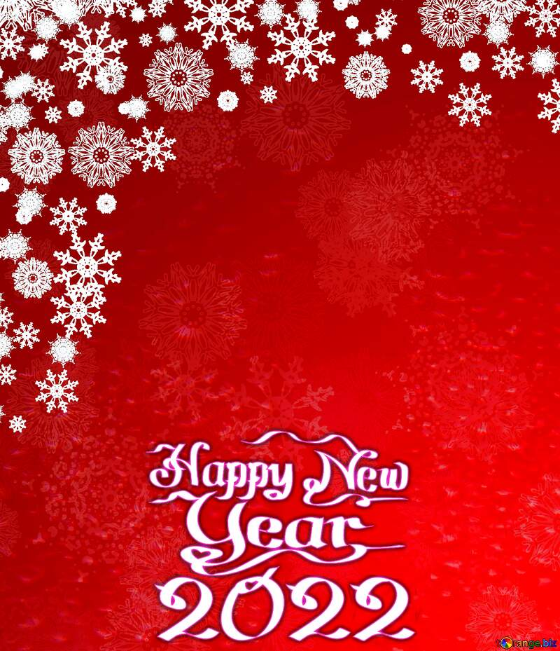 Red Christmas background snowflakes happy new year 2022 №40659