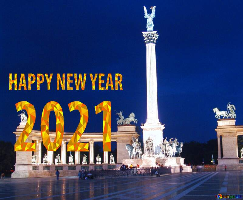 Hungary Budapest Heroes Square new happy year 2020 №31871