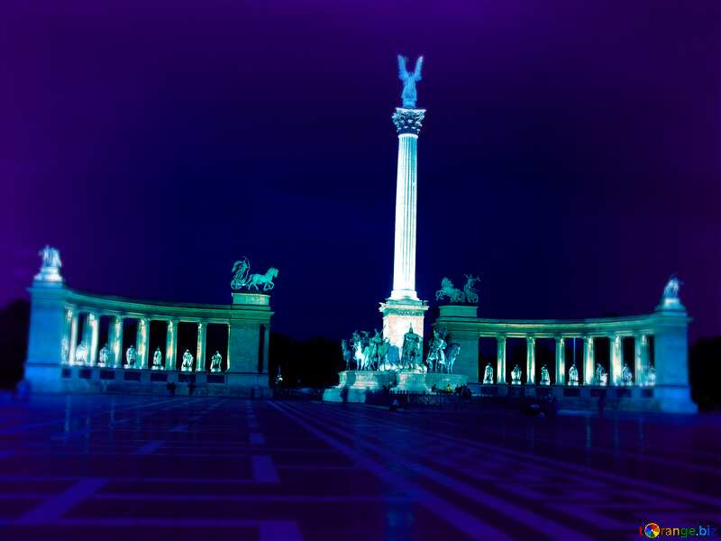 Hungary Budapest Heroes Square blur frame №31871
