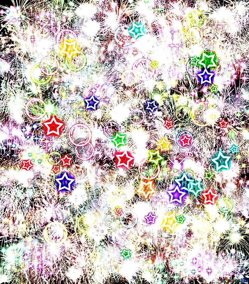 Celebratory bright pattern dark background №39955