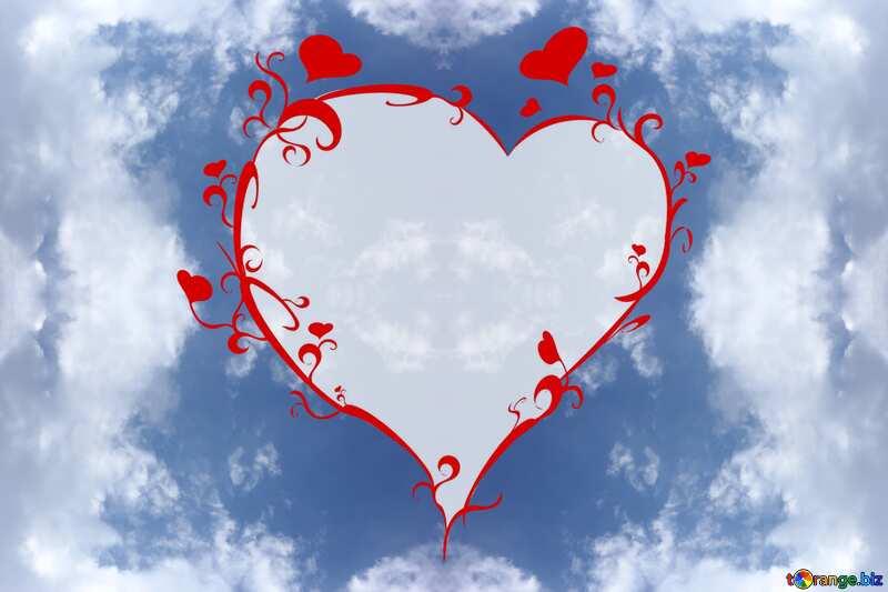 sky pattern heart №22699