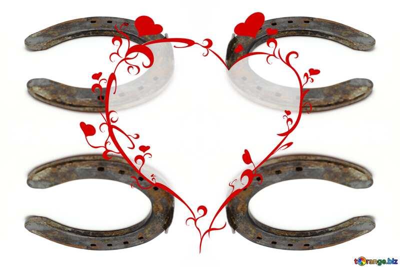 Horseshoe pattern heart №16784
