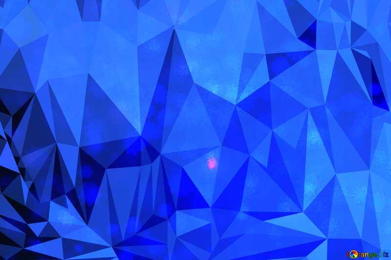 Blue Snowflake polygonal background №40700