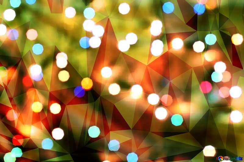 Christmas polygonal background №24619