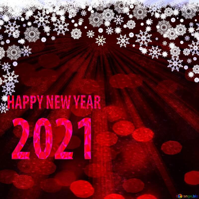 Red Christmas background happy new year 2020 rays dark №40659