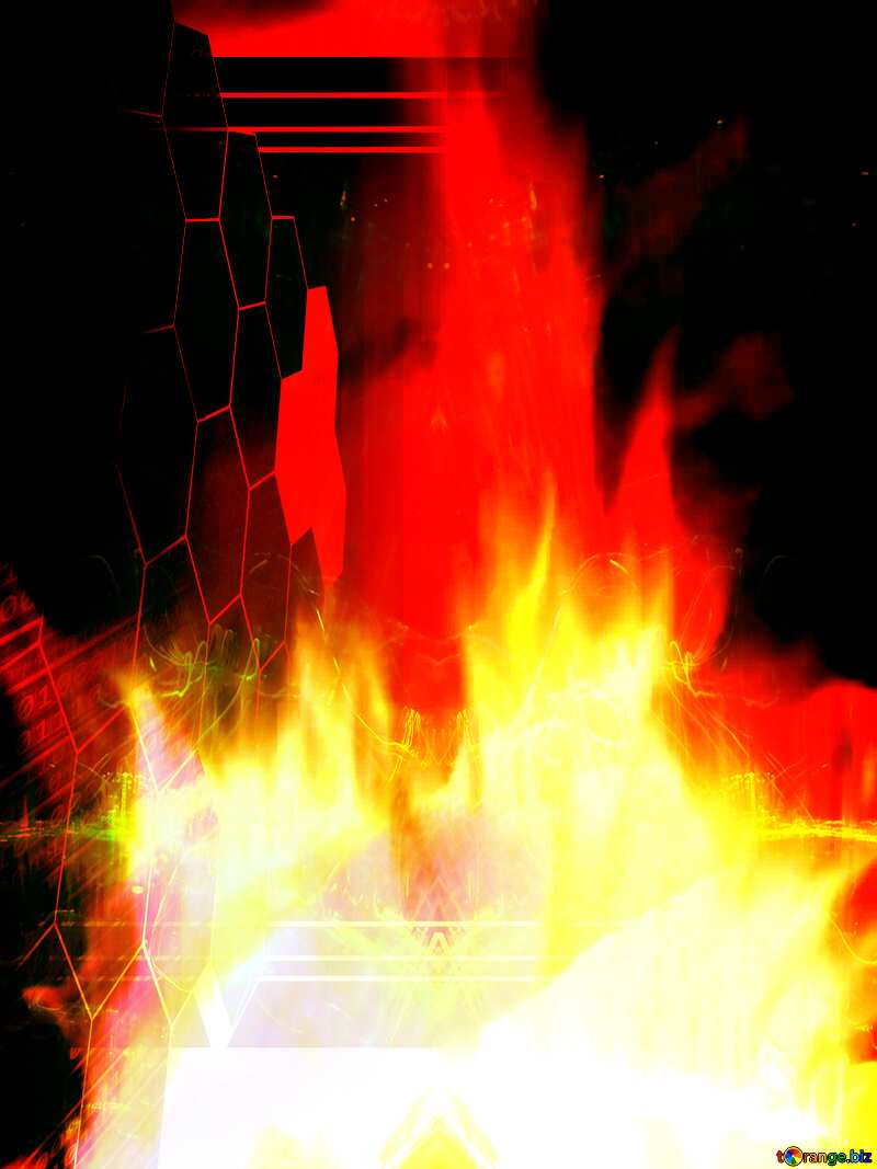 Background. Fire  Wall. Tech concept template №9546