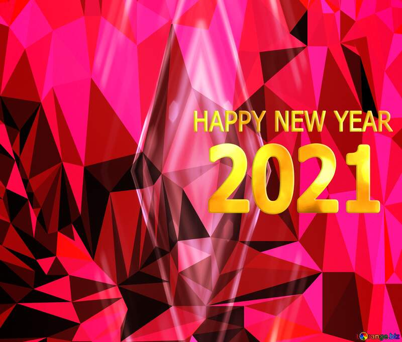 Polygon background happy new year 2021 №51583