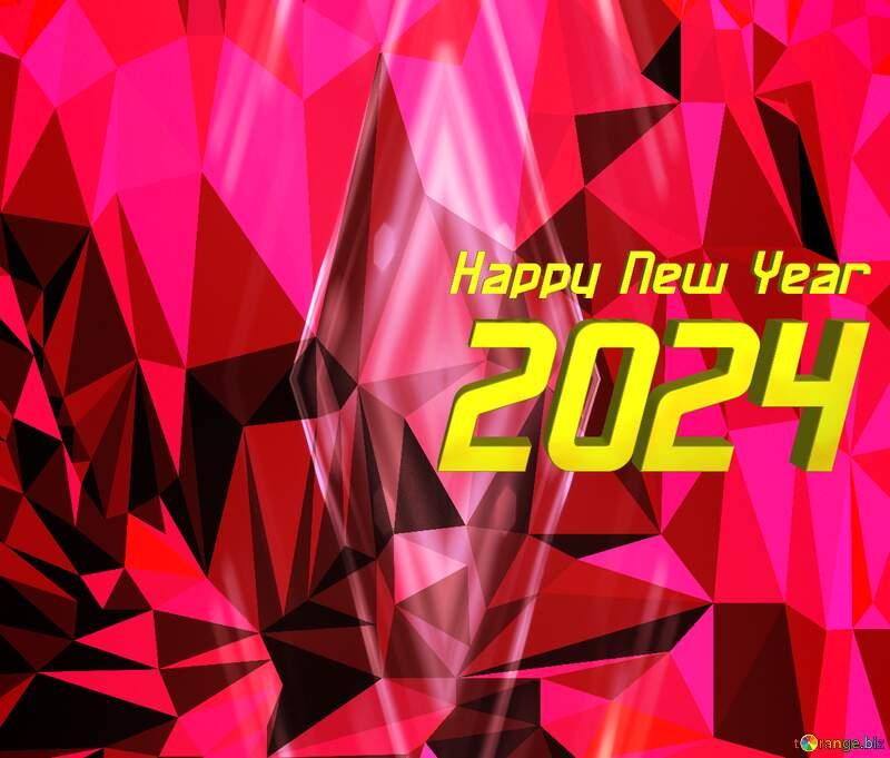 Polygon background happy new year 2022 №51583