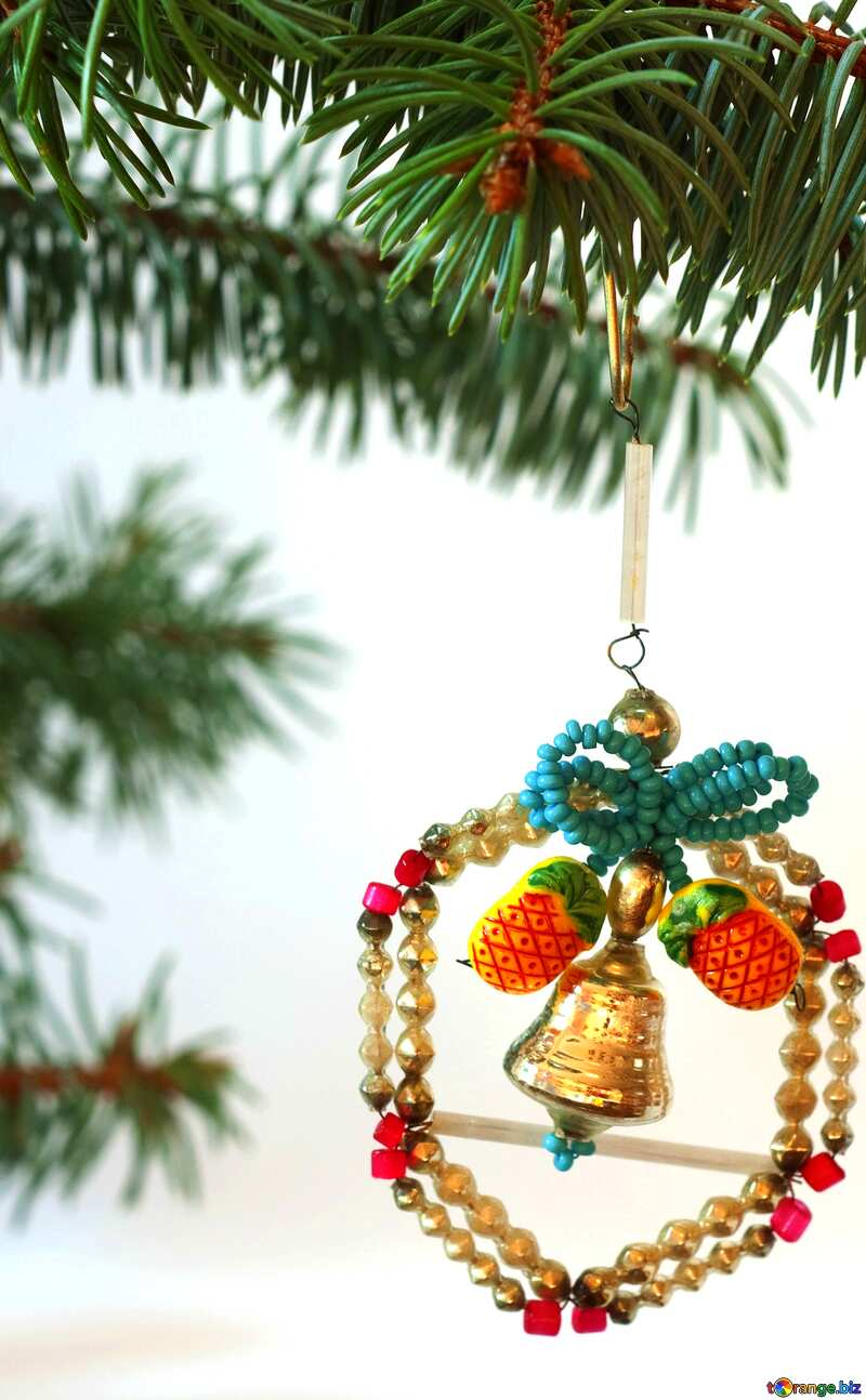 Bright colors. Old  homemade  Christmas tree  Toy.. №6767