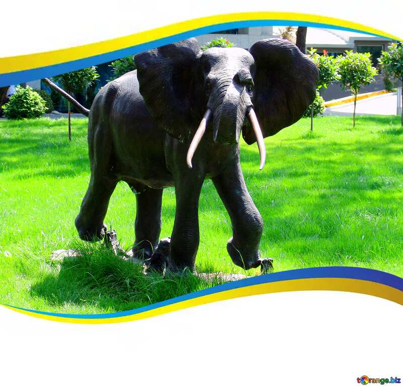 Image for profile picture Elephant . Garden  sculpture.. №8449