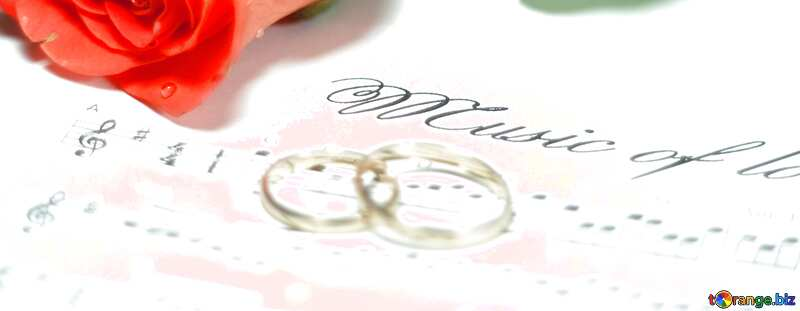 maried card rose rings music note №7230